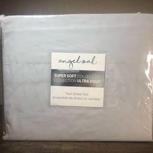 Angel oak twin light gray sheets set new